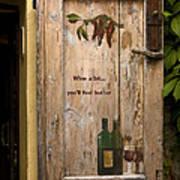 Wine A Bit Door Poster