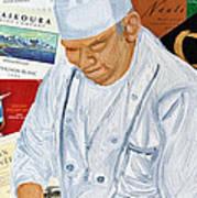 Wine Label Chef Poster