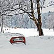 Winter Beach Sign Poster by Aimee L Maher Photography and Art Visit ALMGallerydotcom