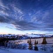 Winter Evening Clouds Poster