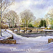 Winter In Ashford Xmas Card Poster