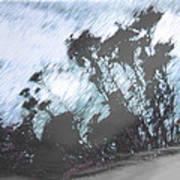 Winter Roadside Poster