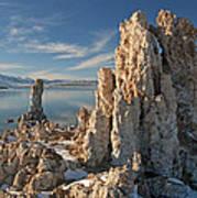 Winter Shoreline Mono Lake Poster