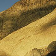 Winter Sunlight On Desert Mountains Poster