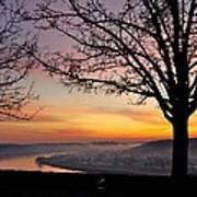 Winter Sunrise In Eden Park Poster