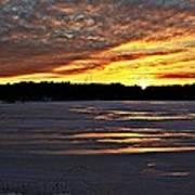 Winter Sunset Iv Poster