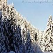 Winter Wonderland Austria Europe Poster by Sabine Jacobs