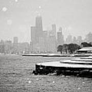 Wintery Chicago Poster