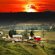 Wisconsin Farm Poster
