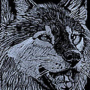 Wolfie Poster by Jim Ross