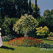 Woman In A Garden Poster