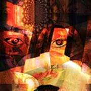 Woman Spirit At The Door  Poster by Fania Simon