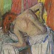 Woman Washing Her Back Poster by Edgar Degas