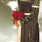 Woman With Roses Poster by Joana Kruse