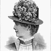 Womans Hat, 1883 Poster