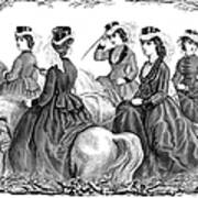 Womens Fashion, 1870 Poster