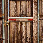 Wood Fence Door Poster