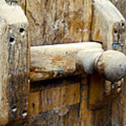Wooden Door Bolt Detail Poster