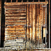 Wooden Slats Barn Poster