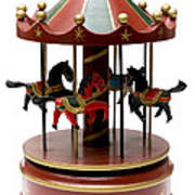 Wooden Toy Carousel Poster