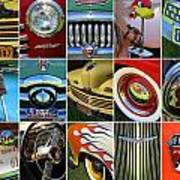 Woodie Car Collage Poster
