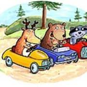 Woodland Traffic Jam Poster by Scott Nelson