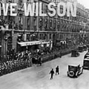 Woodrow Wilson In Paris Poster