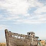Wrecked Boat Poster