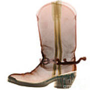 X-ray Of Cowboy Boot Poster