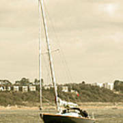 Yacht Entering Christchurch Harbour Poster