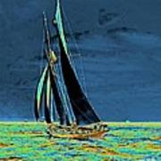 Yacht Idler Races For America's Cup 1901 Poster