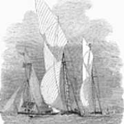 Yacht Race, 1855 Poster