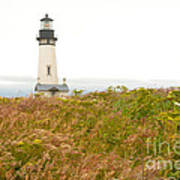 Yaquina Head Lighthouse In Oregon Poster by Artist and Photographer Laura Wrede