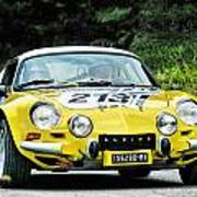 Yellow Alpine Renault Poster