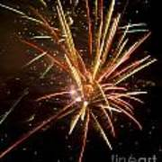 Yellow And Red Fireworks Poster