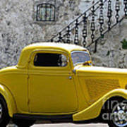 Yellow Coupe Hardtop Poster