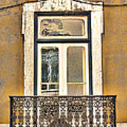 Yellow Facade And Window Poster
