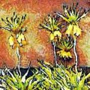 Yellow Flowers Poster by Odon Czintos