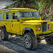 Yellow Jeep Poster
