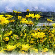 Yellow Landscape Poster