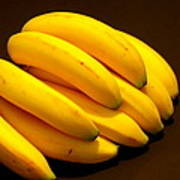 Yellow Ripe Bananas Poster
