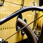 Yellow Rolls Royce Poster