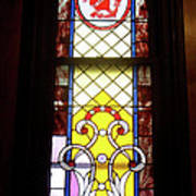 Yellow Stained Glass Window Poster