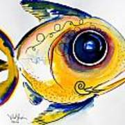 Yellow Study Fish Poster by J Vincent Scarpace