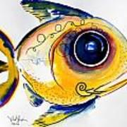 Yellow Study Fish Poster