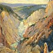 Yellowstone Falls And Hoodoos Poster