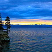 Yellowstone Lake Sunrise Poster