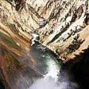 Yellowstone River Below Lower Falls Poster