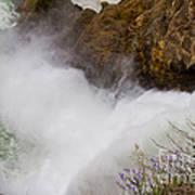 Yellowstone Waterfall Poster