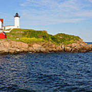 York's Nubble Light Poster by Amy Warnke